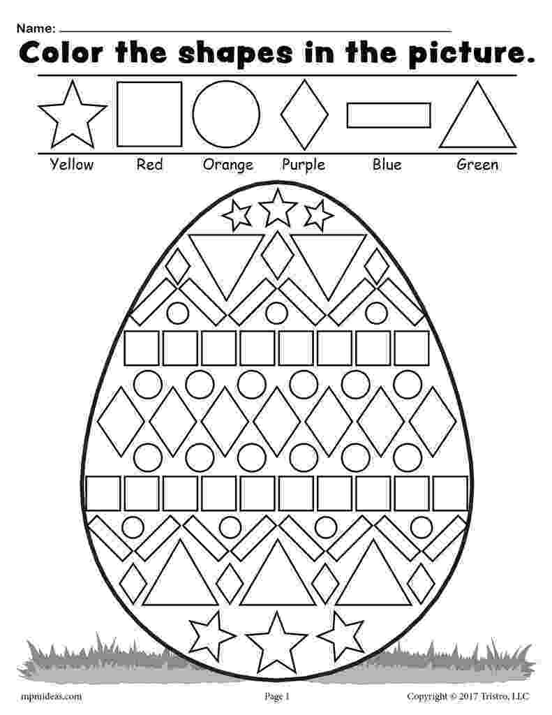 colour by number shapes march preschool worksheets st patrick preschool number by shapes colour