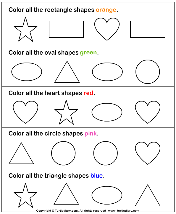 colour by number shapes numbers colors and shapes worksheet set by first grade colour by shapes number