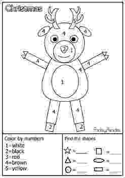 colour by number shapes scarecrow color by shape print shapes colour number by