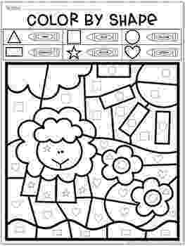 colour by number shapes summer coloring pages color by number by teacher39s brain colour number shapes by