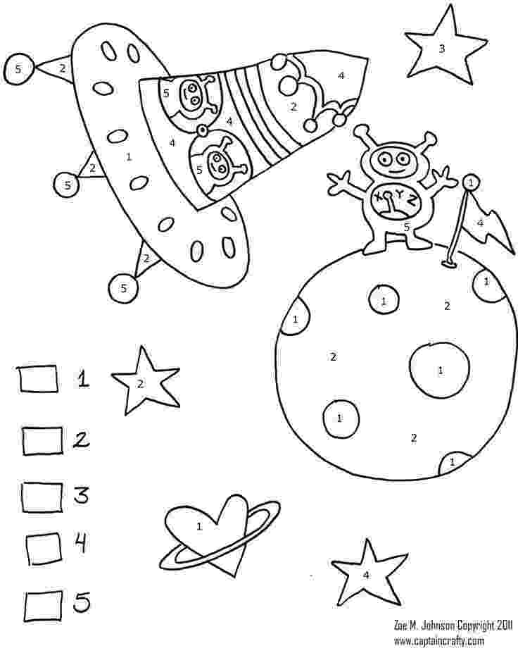 colour by number space color by number missing addends space themed tpt colour number by space