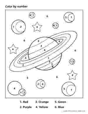 colour by number space color by number space worksheet világűr nap és oktatás colour number space by