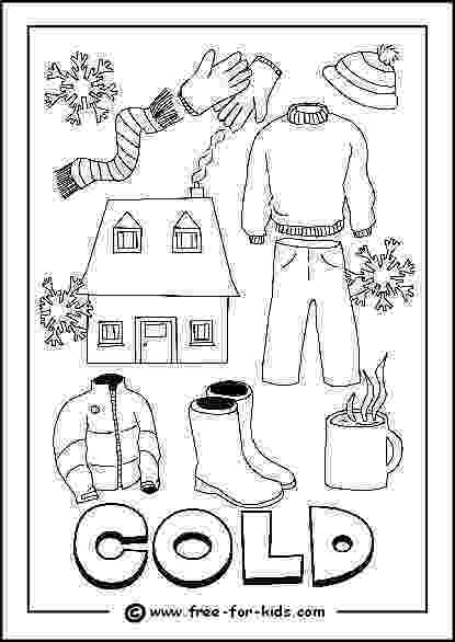 colouring clothes clothes for winter on a coloring page clothes colouring