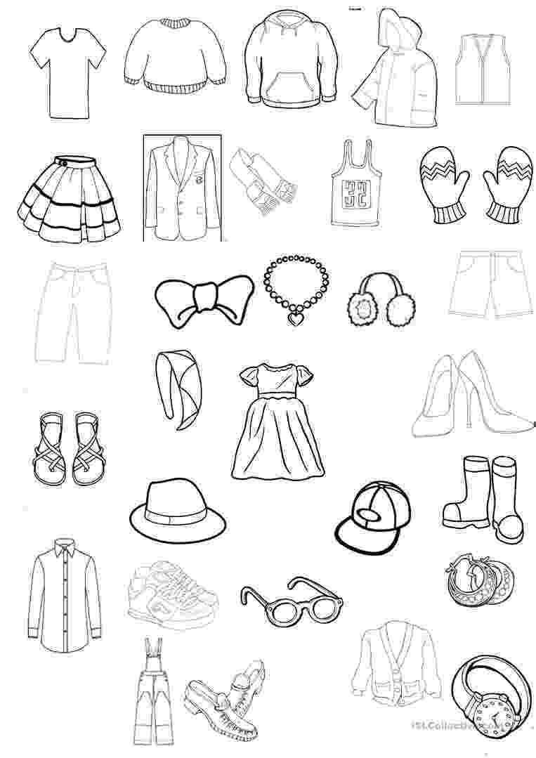 colouring clothes clothing colouring worksheet english esl worksheets colouring clothes
