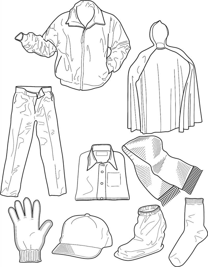 colouring clothes dress coloring pages to download and print for free colouring clothes