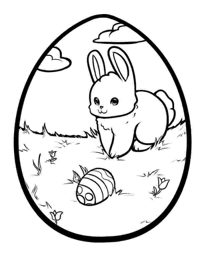 colouring easter bunny cute easter bunny and eggs coloring page free printable bunny easter colouring