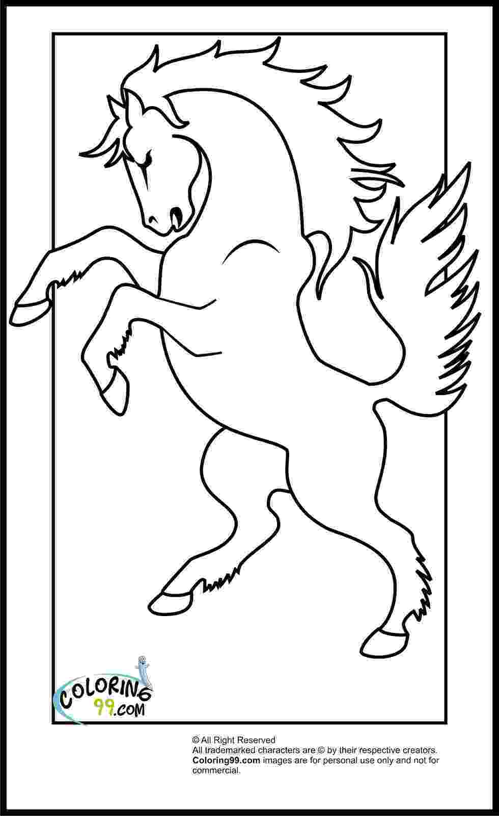 colouring horse coloring pages of horse to print 015 colouring horse