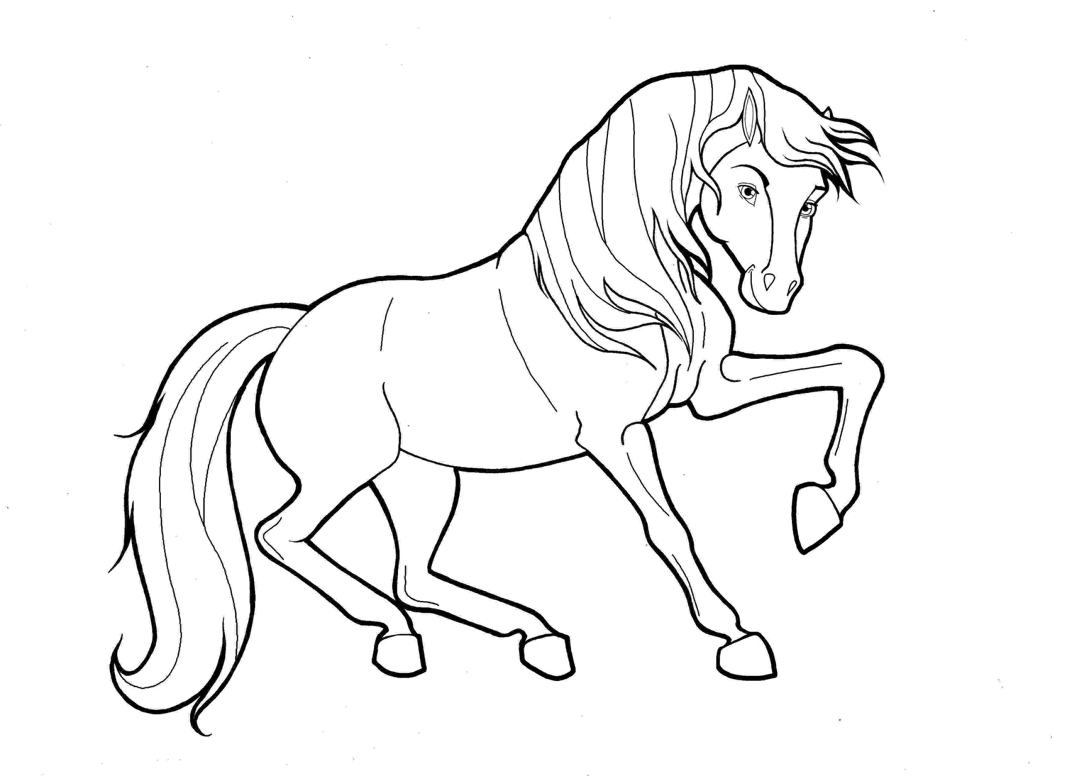 colouring horse free horse coloring pages colouring horse