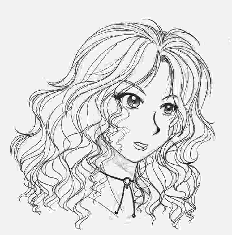colouring ideas for short hair curly haired beauty lineart by reyd on deviantart hair colouring ideas for short