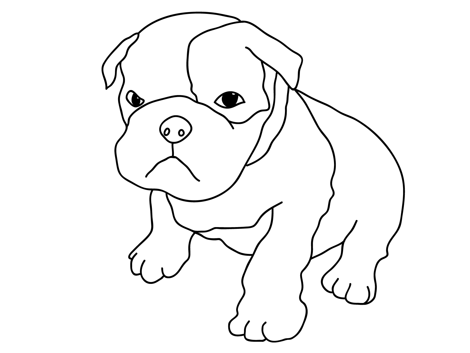 colouring page of dog free printable dog coloring pages for kids colouring page of dog