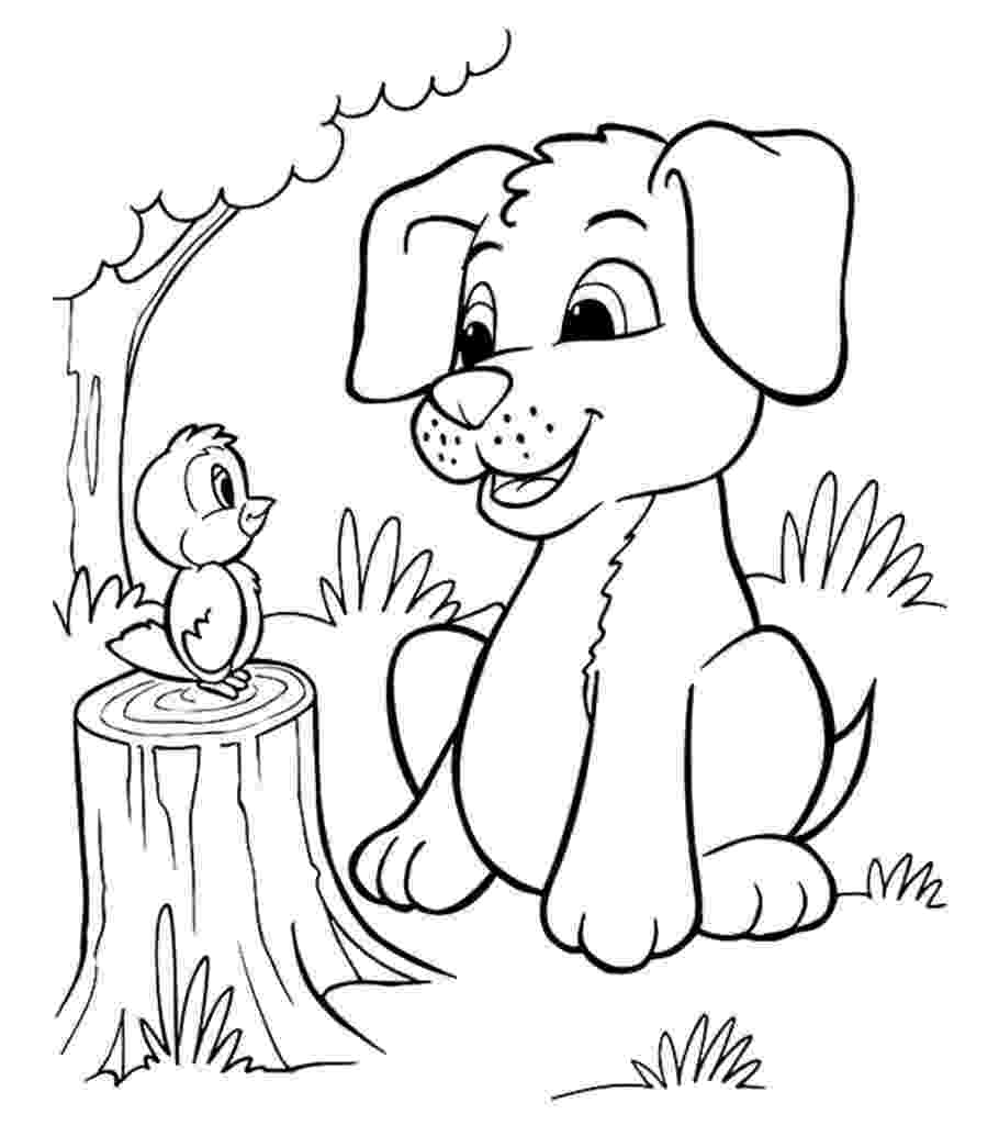colouring page of dog free printable dog coloring pages for kids of colouring dog page