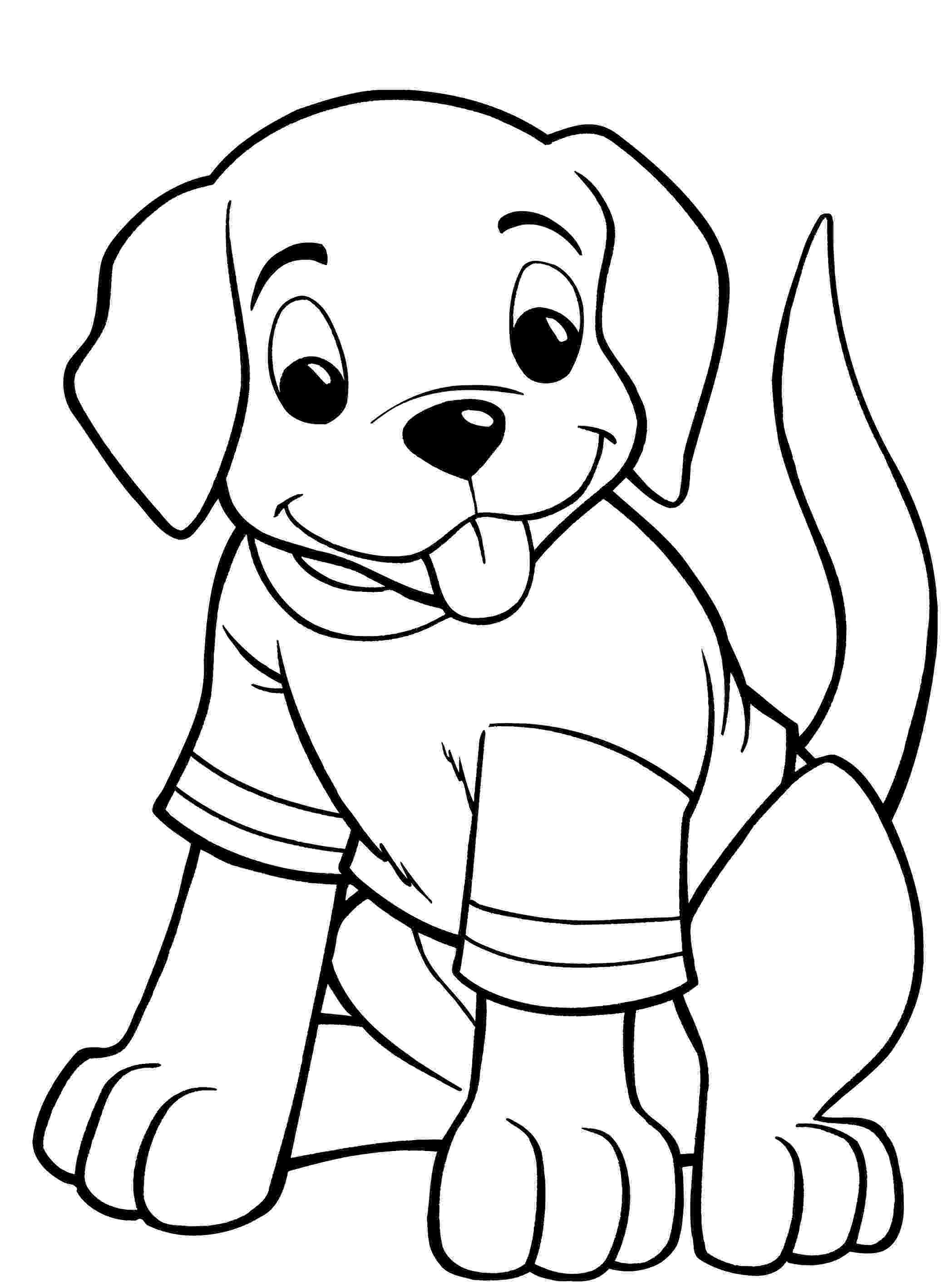 colouring page of dog puppy coloring pages getcoloringpagescom colouring of page dog