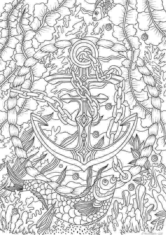 colouring pages adults anchor printable adult coloring page from favoreads etsy pages adults colouring