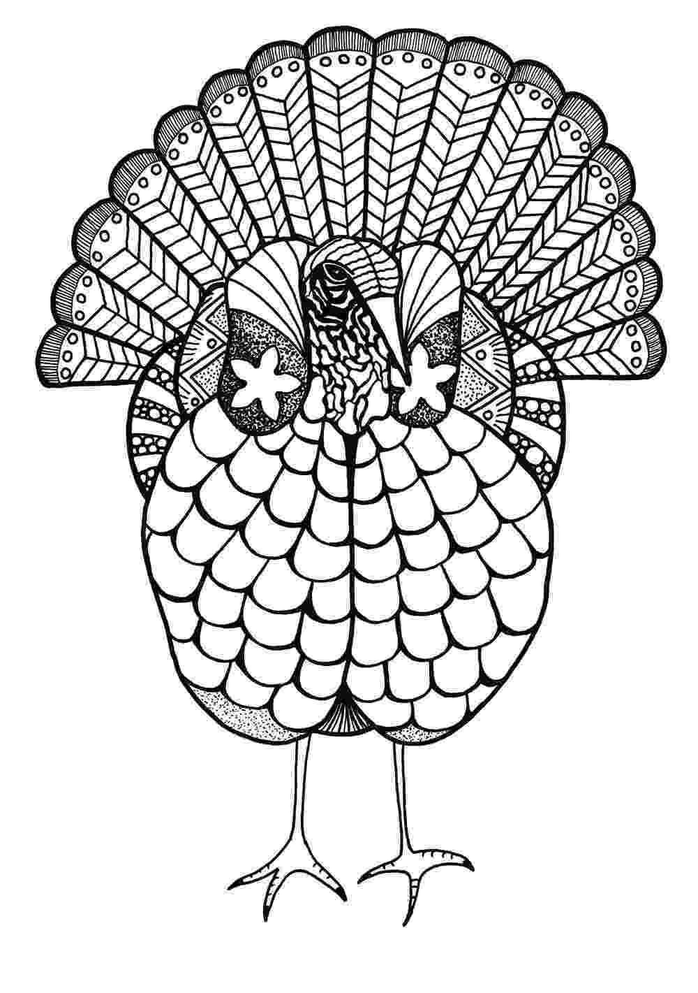 colouring pages adults colorful turkey adult coloring page favecraftscom adults colouring pages