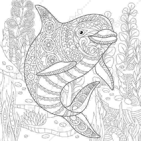 colouring pages adults ocean world dolphin 2 coloring pages animal coloring colouring adults pages