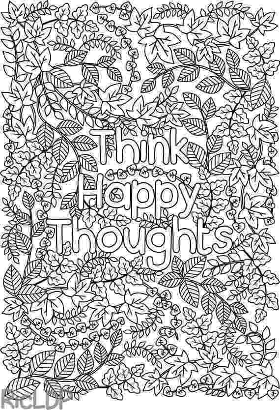 colouring pages adults printable 39think happy thoughts39 coloring page by colouring adults pages