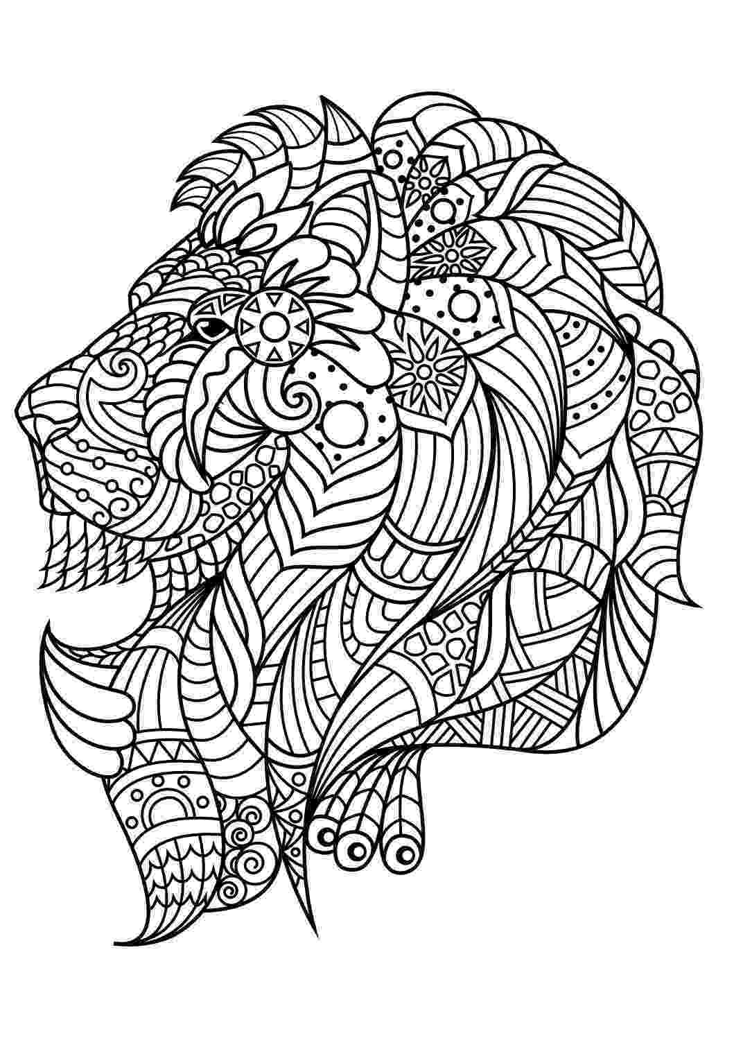 colouring pages for adults animals adult coloring pagebook a pigzen style art illustration pages for colouring animals adults