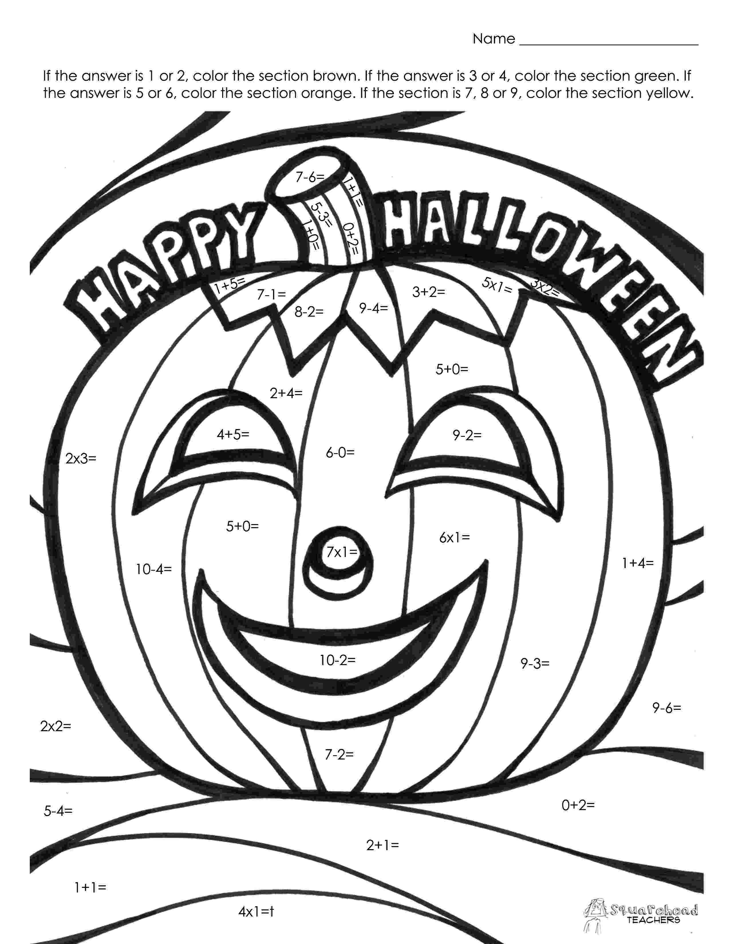 colouring pages for grade 2 flapjack educational resources hquotowlquotoween poke math colouring for grade pages 2