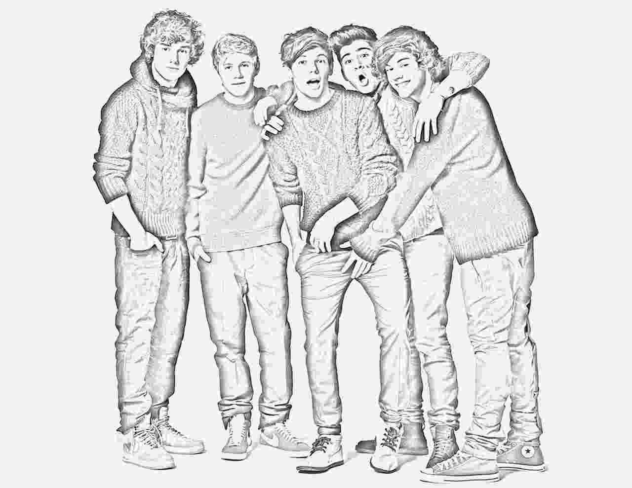 colouring pages for one direction 画像 one directionワンダイレクションの塗り絵ぬりえ無料テンプレートイラスト素材 one pages direction colouring for