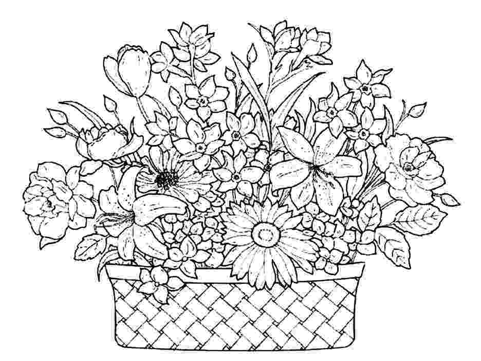 colouring pages of beautiful flowers flower in vase from beautiful flower bouquet coloring page colouring pages flowers beautiful of