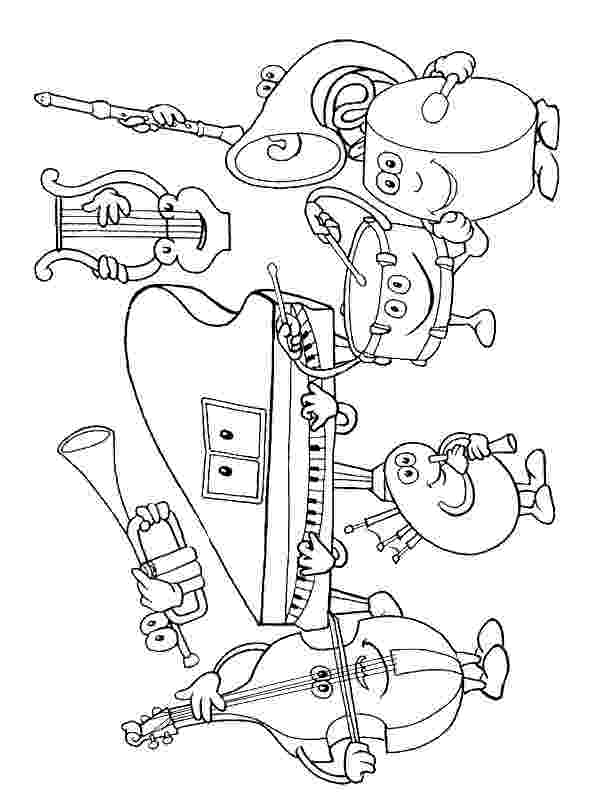 colouring pages of musical instruments musical instruments coloring pages to download and print instruments colouring of pages musical