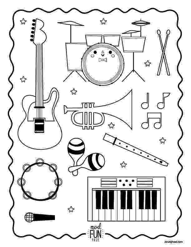 colouring pages of musical instruments the 11 best music themed coloring books for kids and pages instruments musical colouring of