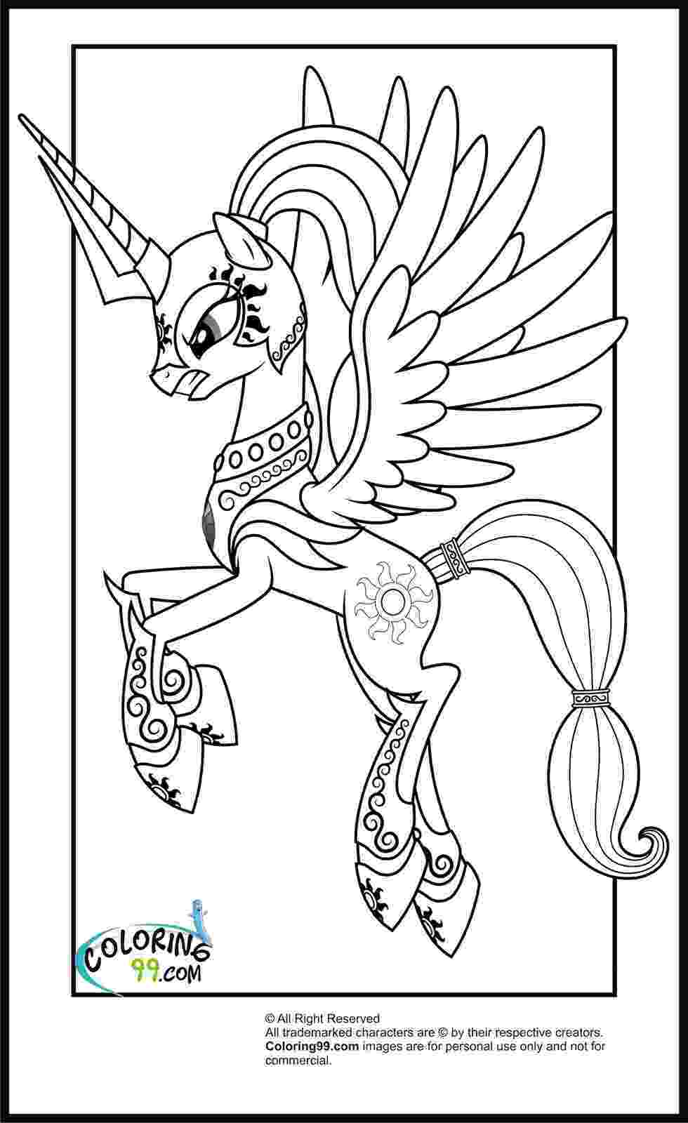 colouring pages pony my little pony princess celestia coloring pages minister pages colouring pony