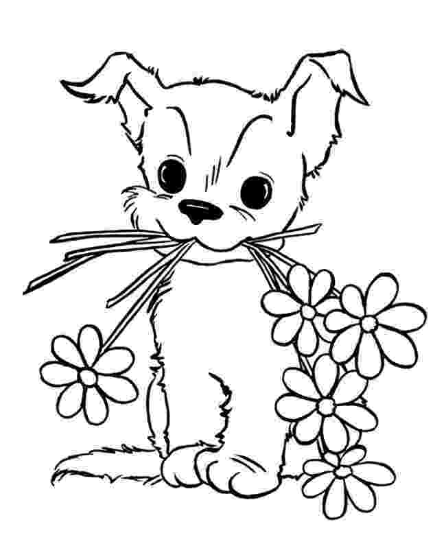 colouring pages puppies puppy coloring pages getcoloringpagescom colouring pages puppies