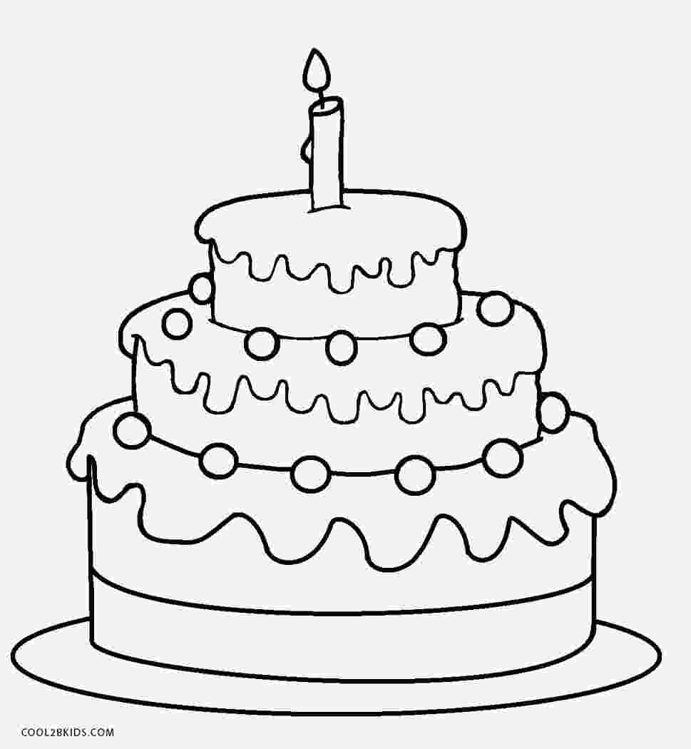 colouring picture cake free printable birthday cake coloring pages for kids picture colouring cake