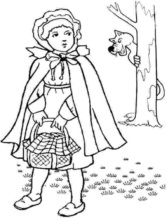 colouring sheet little red riding hood little red riding hood coloring pages riding little sheet hood colouring red