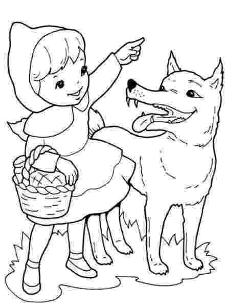 colouring sheet little red riding hood red riding hood colouring pages little sheet hood riding red colouring