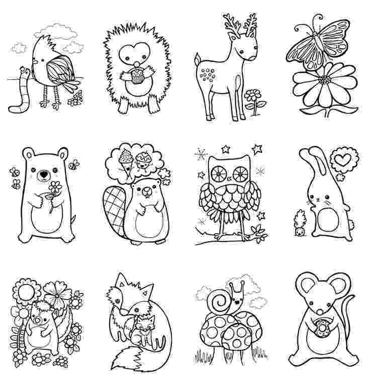 colouring sheets forest animals coloring book woodland animals easter children craft zoo sheets animals forest colouring
