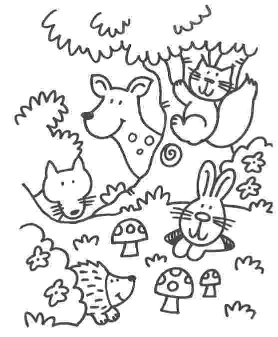 colouring sheets forest animals fire trucks coloring and coloring pages on pinterest forest animals sheets colouring