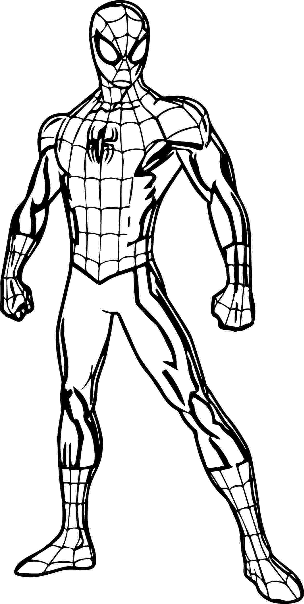 colouring templates spiderman spiderman cartoon drawing at getdrawingscom free for colouring spiderman templates