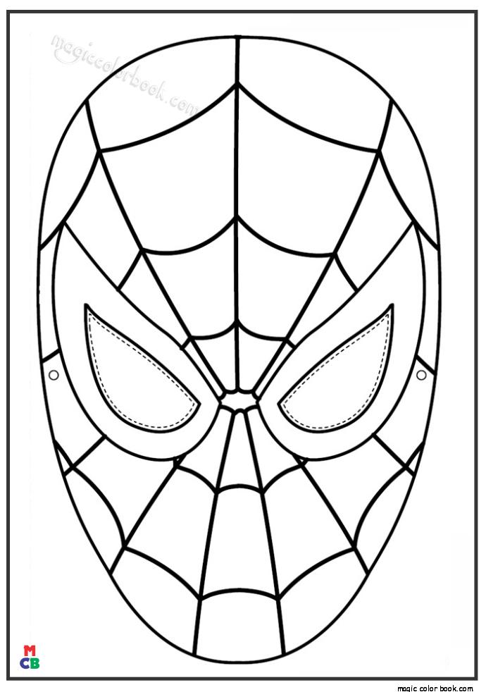 colouring templates spiderman spiderman mask coloring page coloring pages pinterest colouring templates spiderman