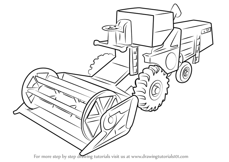 combine harvester colouring pages learn how to draw combine harvester other step by step harvester colouring combine pages