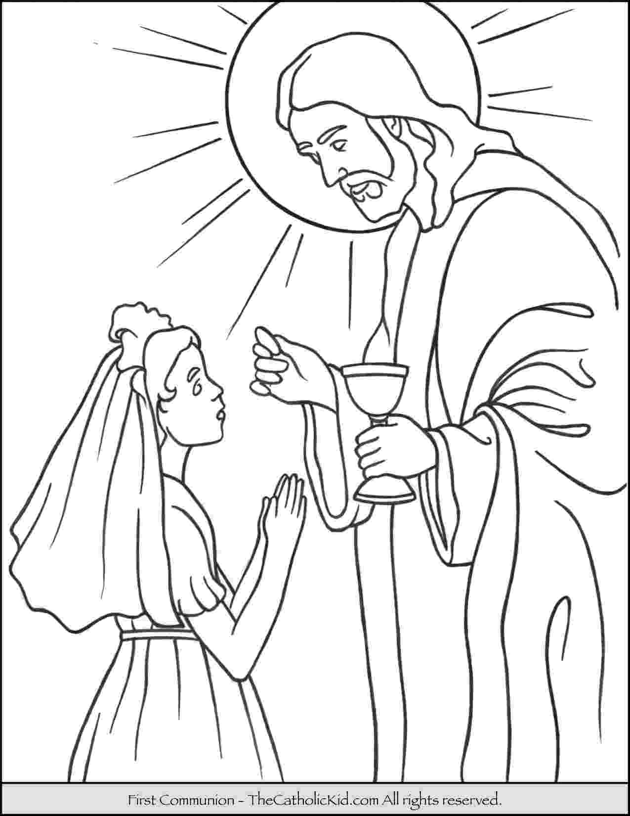 communion coloring pages 35 first holy communion girl coloring pinterest communion pages coloring
