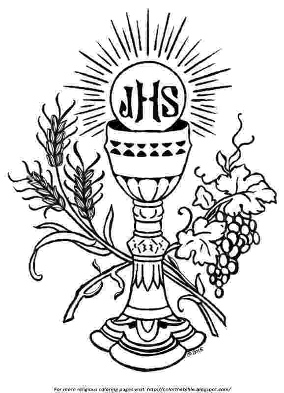 communion coloring pages first communion chalice and host coloring page sketch coloring communion pages