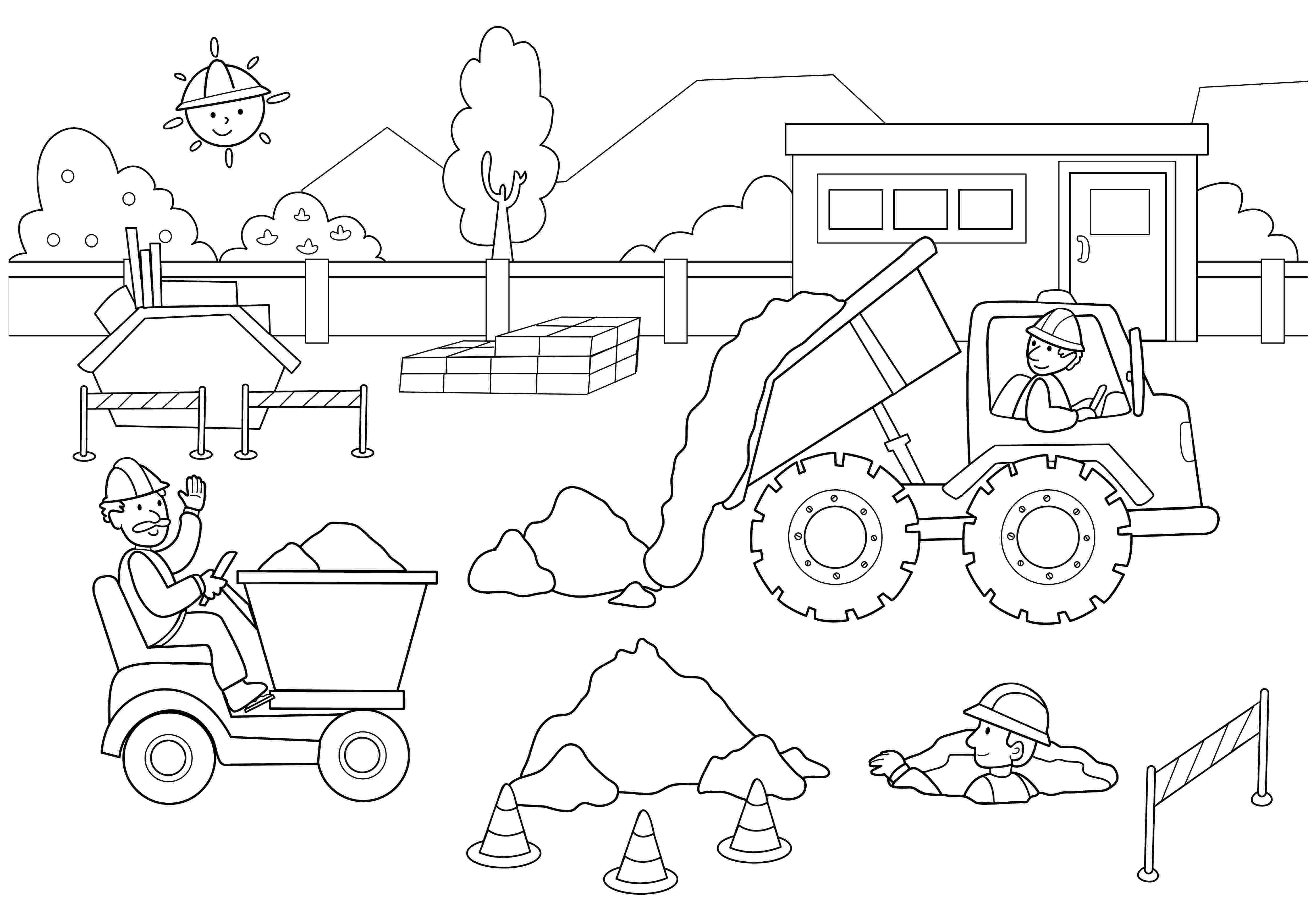 construction trucks coloring pages big man construction vehicle coloring construction pages coloring construction trucks