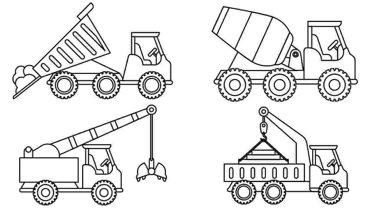 construction trucks coloring pages learn colors for kids with big construction truck construction pages trucks coloring