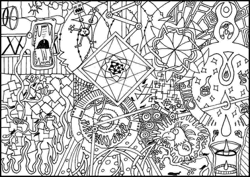 cool abstract coloring pages colouring trippy printable page enjoy coloring cool coloring pages abstract