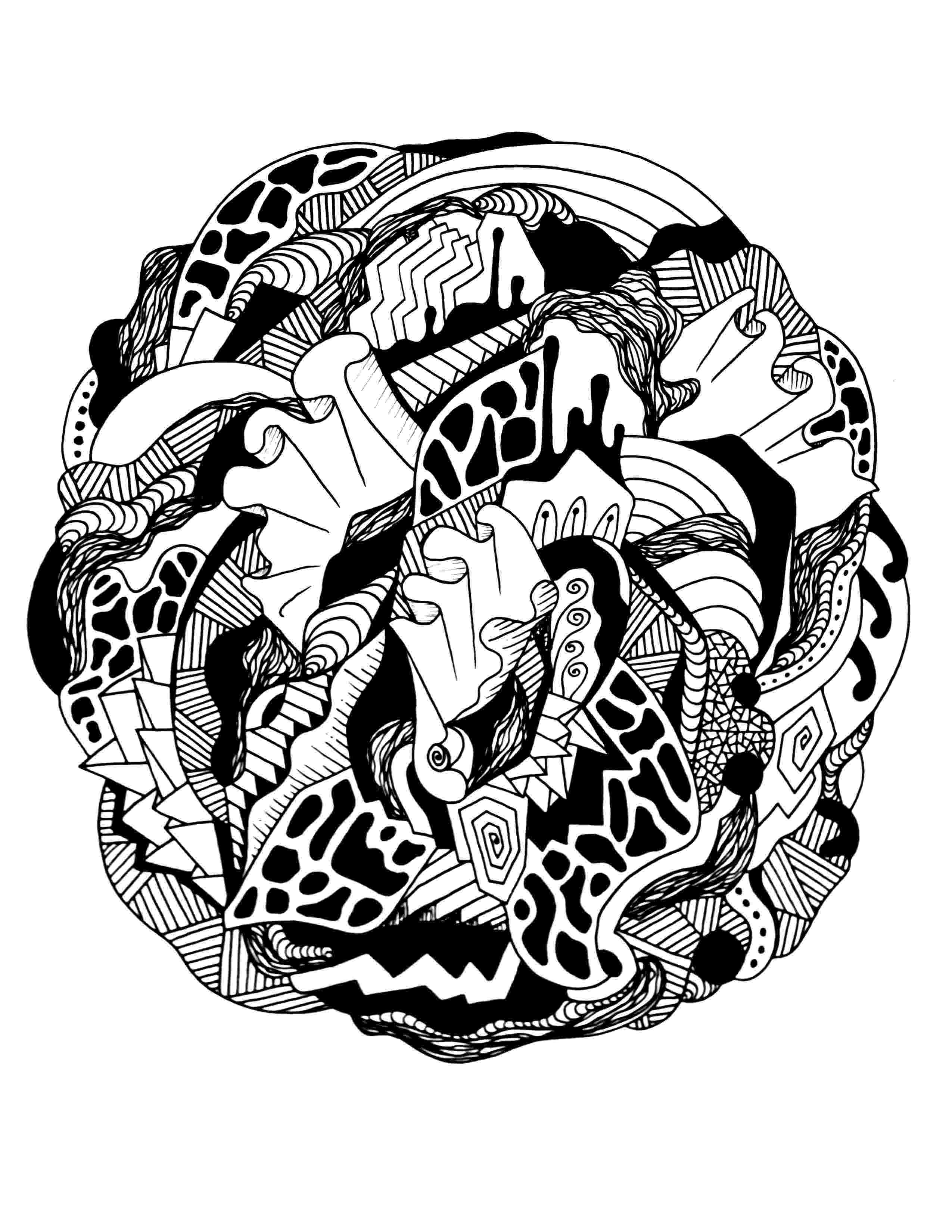 cool abstract coloring pages fun abstract coloring page craft free coloring pages pages abstract coloring cool