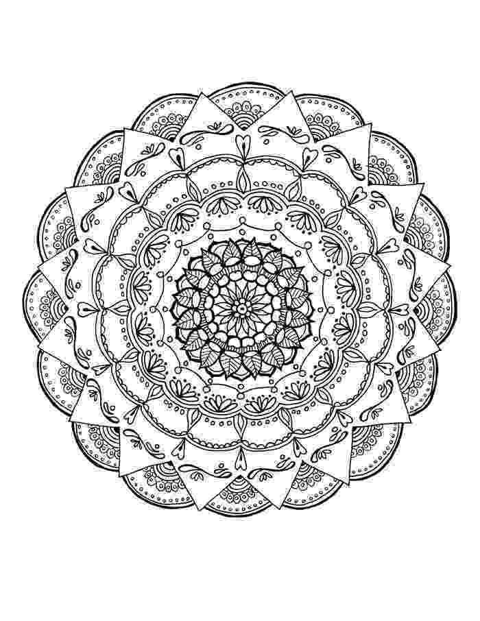 cool mandalas complex mandala with flowers malas adult coloring pages mandalas cool