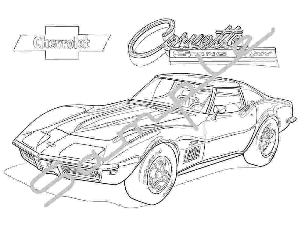 corvette coloring pages 40 best images about corvette on pinterest cars corvette pages coloring