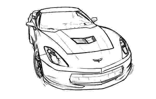 corvette coloring pages corvette drawing at getdrawingscom free for personal corvette coloring pages