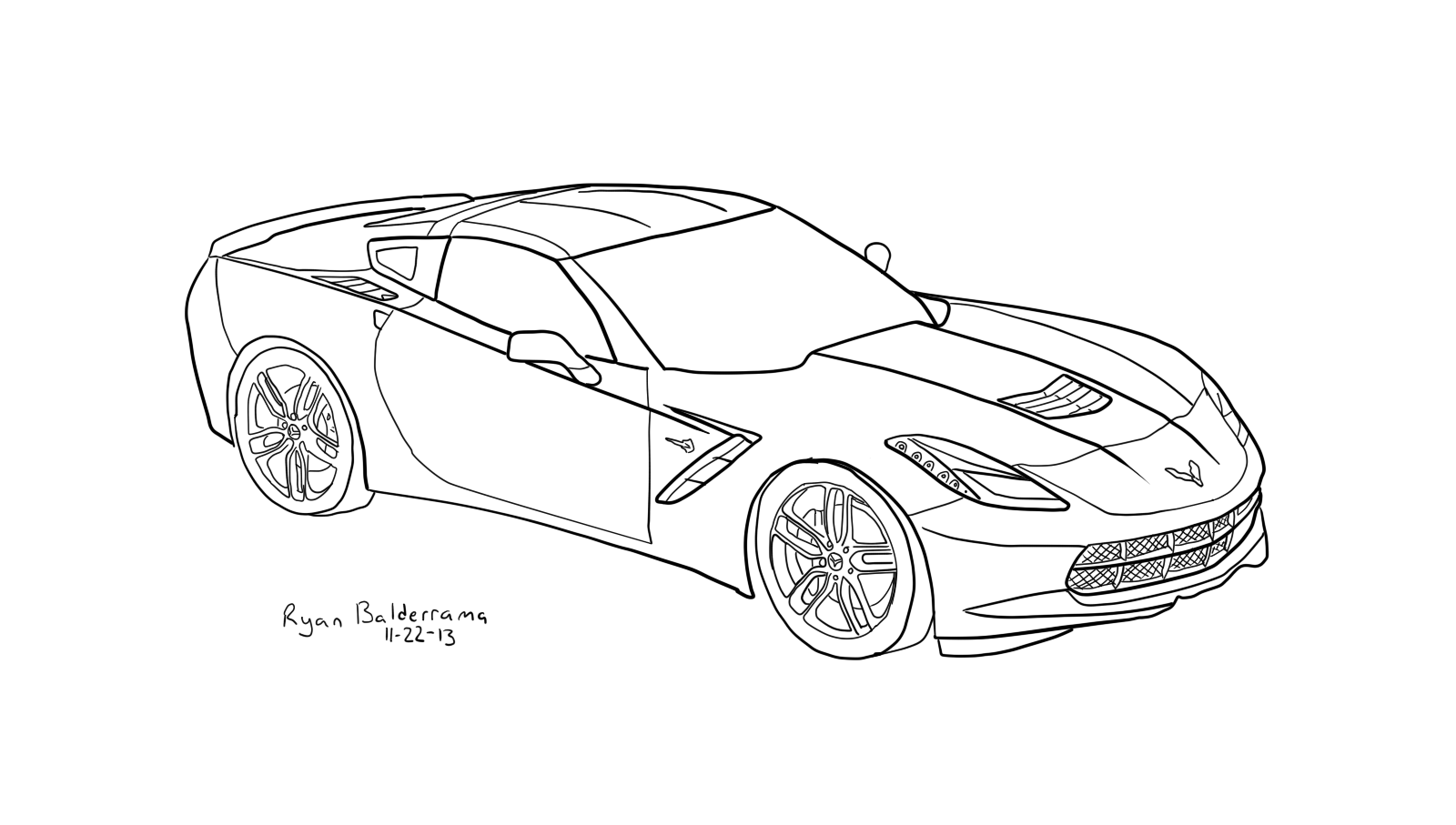 corvette coloring pages red blooded car coloring pages free corvettes cameros coloring pages corvette