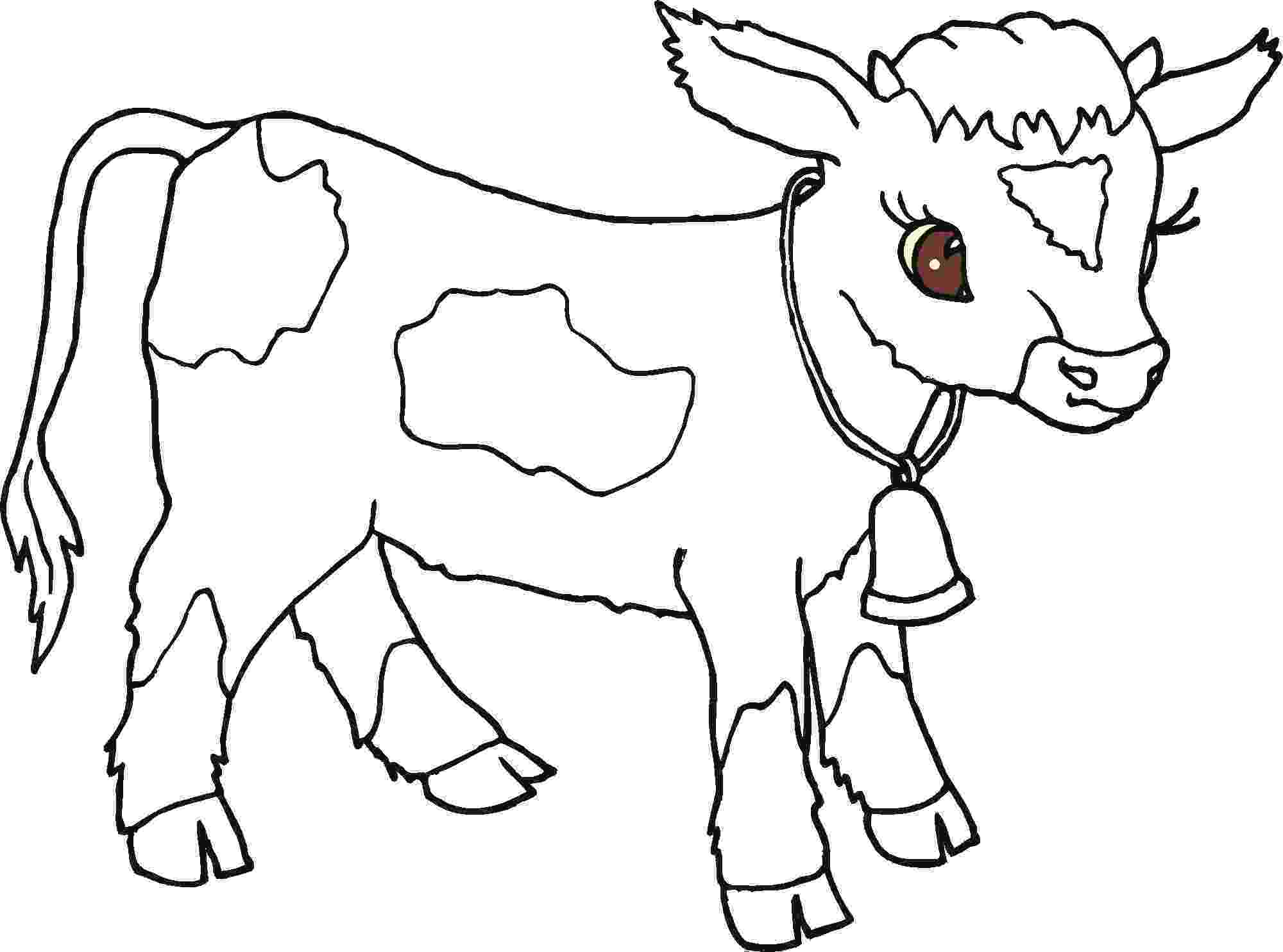 cow colouring sheet cow animals coloring pages for kids printable coloring cow sheet colouring