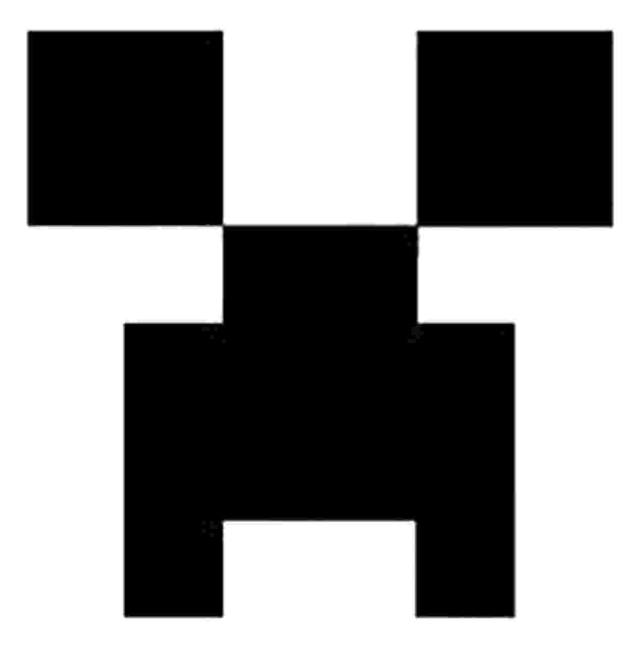 creeper face free printable minecraft letters google search creeper face