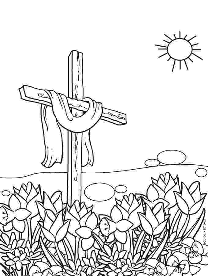 cross coloring page free printable cross coloring pages for kids cool2bkids page cross coloring
