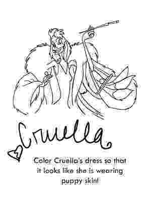 cruella deville coloring page cruella de vil coloring pages 102 dalmatians coloring deville coloring cruella page